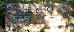 Minnie M. <I>Giese</I> Henning