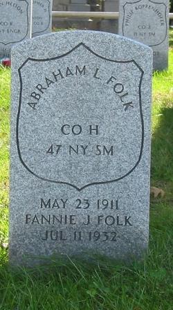 Fannie Jane <I>Spragg</I> Folk