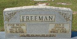 Jinnie <I>Wilson</I> Freeman