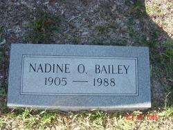 Nadine <I>O'Bryant</I> Bailey