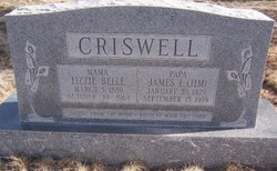 Lizzie Belle <I>Thomas</I> Criswell