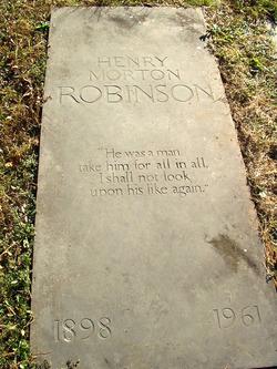 Henry Morton Robinson