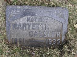 Maryetta N <I>Brewer</I> Cassler