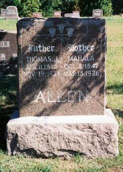 Mahala Ruena <I>Jones</I> Allen