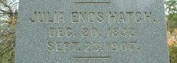 Julia <I>Enos</I> Hatch