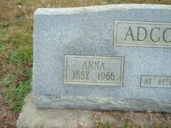 Mary Anna <I>Price</I> Adcock