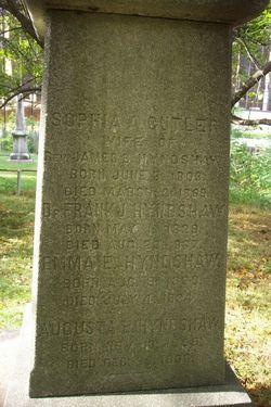 Sophia A. <I>Cutler</I> Hyndshaw