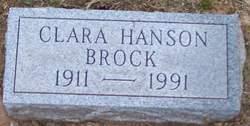 Clara Esther <I>Hanson</I> Brock