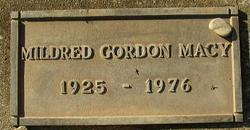 Mildred <I>Gordon</I> Macy