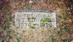 "Martha Jane ""Mattie"" <I>Norman</I> Edwards"