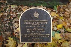 Pvt Onesimus Whitehead