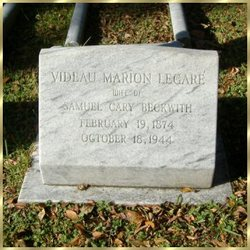 Videau Marion <I>Legare</I> Beckwith