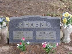 Rose Mary <I>Heiman</I> Haen