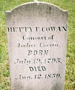 "Esther F ""Hetty"" <I>Houston</I> Cowan"