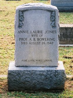 Annie Laurie <I>Jones</I> Bowering