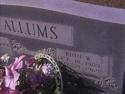 Alma Ruth <I>Washburn</I> Allums