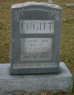 "Frances Ann ""Fannie"" <I>Holloway</I> Fugitt"