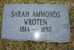 Sarah Ellen <I>Ammons</I> Wroten