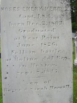 Capt Moses Emery Merrill