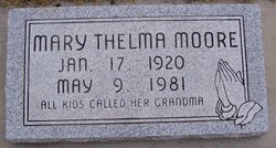 Mary Thelma <I>Graves</I> Moore