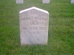 Pvt Benjamin F. Allen