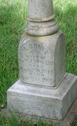 "Martha J. ""Mattie"" <I>Nunn</I> Bowers"