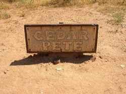 Cedar Pete unknown