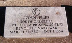 Pvt John Files, Jr