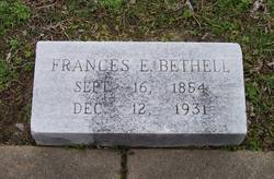 "Frances Elizabeth ""Fannie"" <I>Westbrook</I> Bethell"