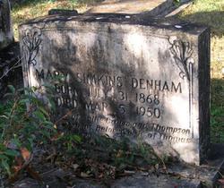 Mary <I>Simkins</I> Denham