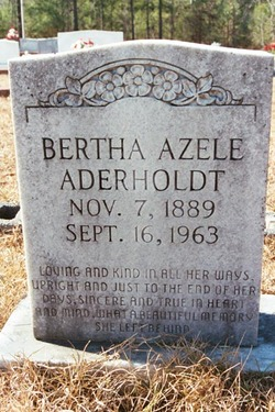 Bertha Azele <I>Nelson</I> Aderholdt