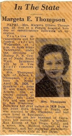 Margetta <I>Ellison</I> Thompson