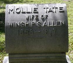 Mary Mollie <I>Tate</I> Allen