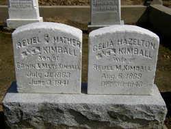 "Alice Cecelia ""Celia"" <I>Hazelton</I> Kimball"