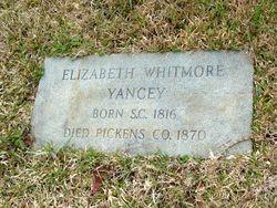 Elizabeth <I>Whitmore</I> Yancey