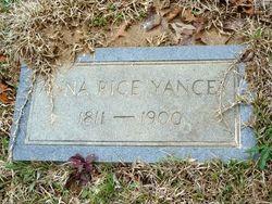 Anna <I>Rice</I> Yancey