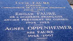 Agnès <I>Faure</I> Oppenheimer