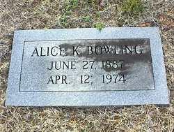 Alice Oliver <I>King</I> Bowling