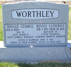 Minnie Catherine <I>Anderson</I> Worthley