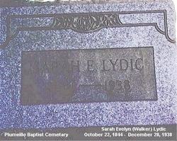 Sarah Evelyn <I>Walker</I> Lydic