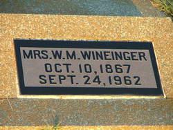 Melvina <I>Palmer</I> Wineinger