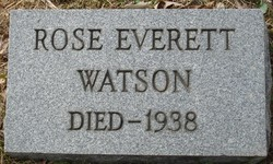 Rose <I>Everett</I> Watson