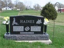 Carrie Mary <I>Keller</I> Haines