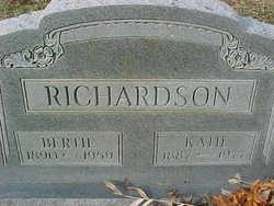 """Eliza Catherine """"Katie"""" <I>Hoover</I> Richardson"""