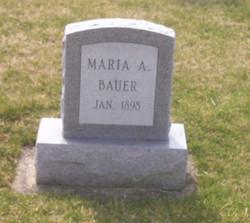 Maria A Bauer