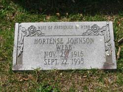 Hortense <I>Johnson</I> Webb