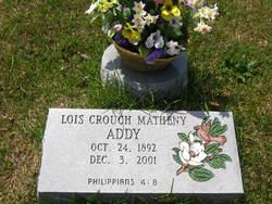 Lois <I>Crouch</I> Addy