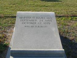 Martha O. <I>Hazel</I> Hay