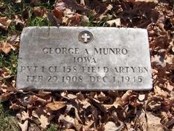 PFC George Albert Munro