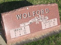 Irene Elinor <I>Erickson</I> Wolford